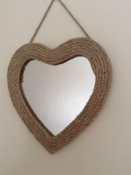 Rope Heart Mirror By Gisela Graham